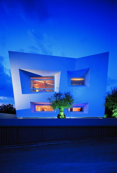 Fény háza - homlokzat ötlet, modern stílusban