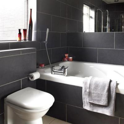 Fekete-fehérben - fürdő / WC ötlet, modern stílusban