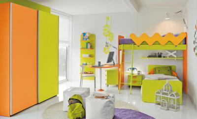 Zöld Sárga gyerekszoba - gyerekszoba ötlet, modern stílusban