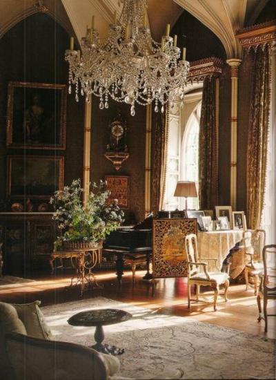 Régi korok kedvelőinek - nappali ötlet, klasszikus stílusban