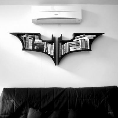 Könyvespolc  - nappali ötlet, modern stílusban