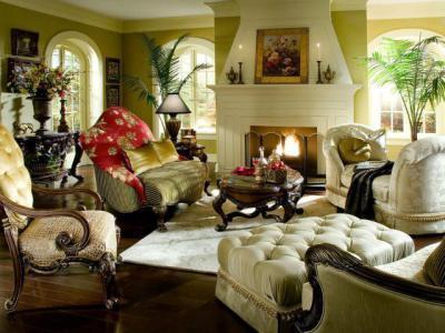 Klasszikus nappali  - nappali ötlet, klasszikus stílusban