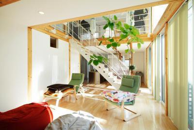 Világos lakás - nappali ötlet, modern stílusban