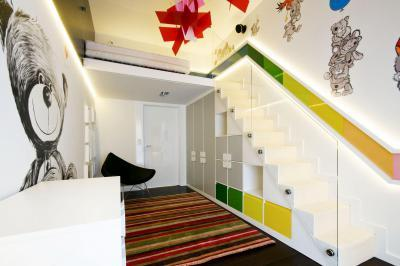 Színes, macis szoba - gyerekszoba ötlet, modern stílusban