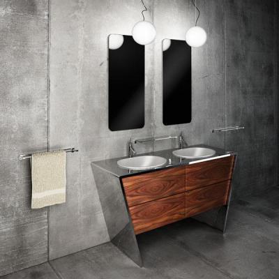 Betonburkolat a fürdőben - fürdő / WC ötlet, modern stílusban
