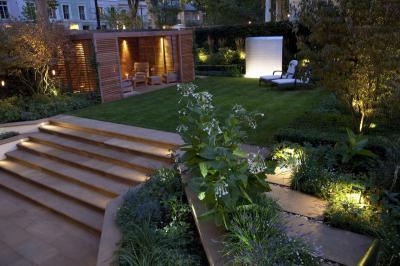 Kerti világítás  - kert / udvar ötlet, modern stílusban