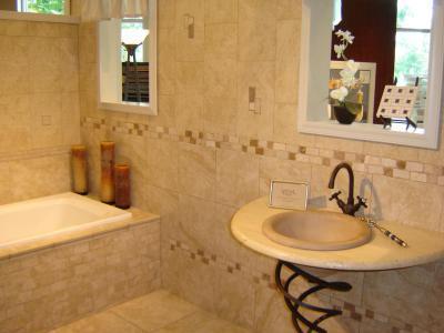 Világos, modern fürdő - fürdő / WC ötlet, mediterrán stílusban