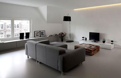 Szürke nappali - nappali ötlet, modern stílusban
