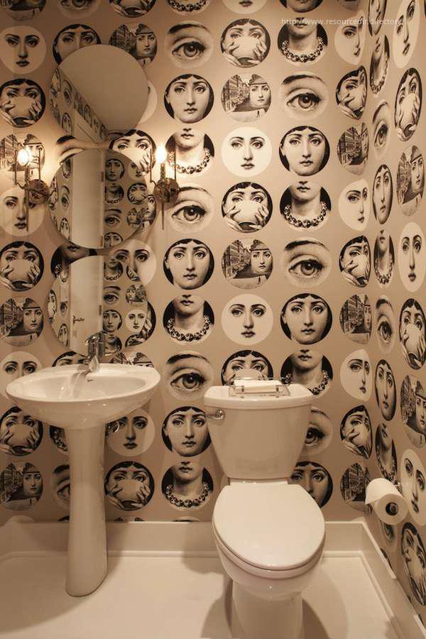 Pop art tapéta a fürdőszobában // HOMEINFO.hu - Inspirációtár