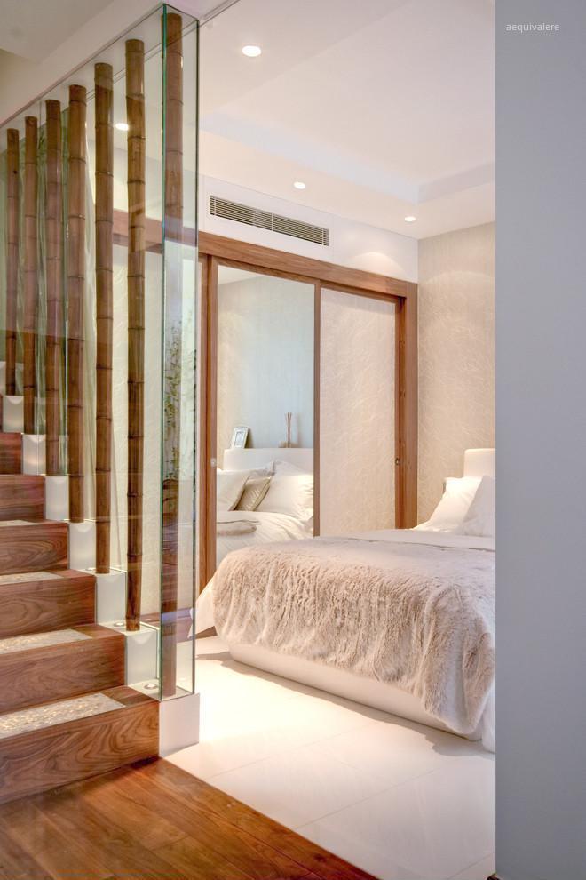 lépcsőkorlát üvegbe ágyazott bambuszból // HOMEINFO.hu - Inspirációtár