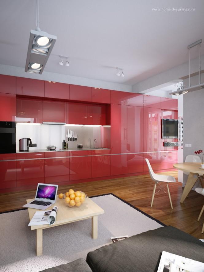 Magasfényű piros konyhabútor // HOMEINFO.hu - Inspirációtár