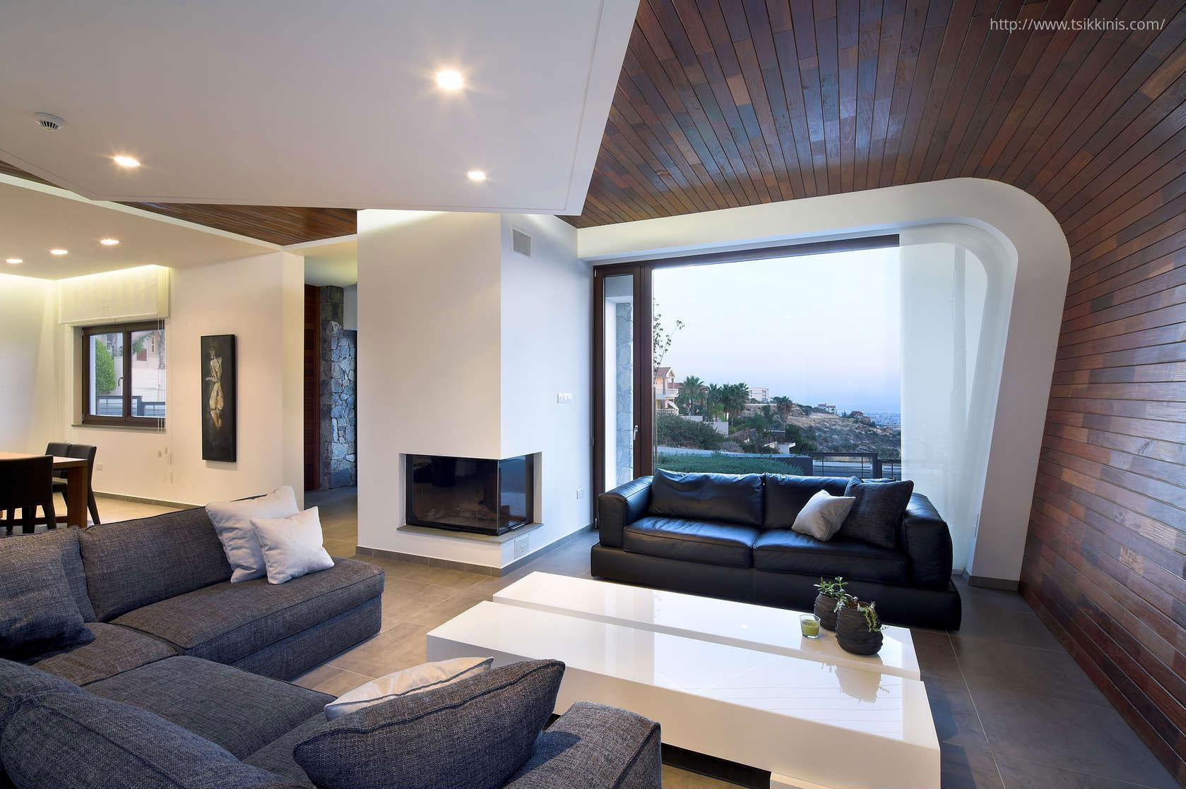Steintapete beige wohnzimmer