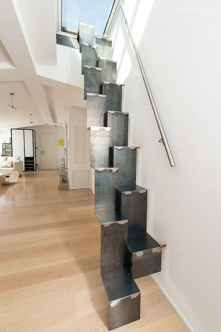 Fém helytakarékos lépcső // HOMEINFO.hu - Inspirációtár