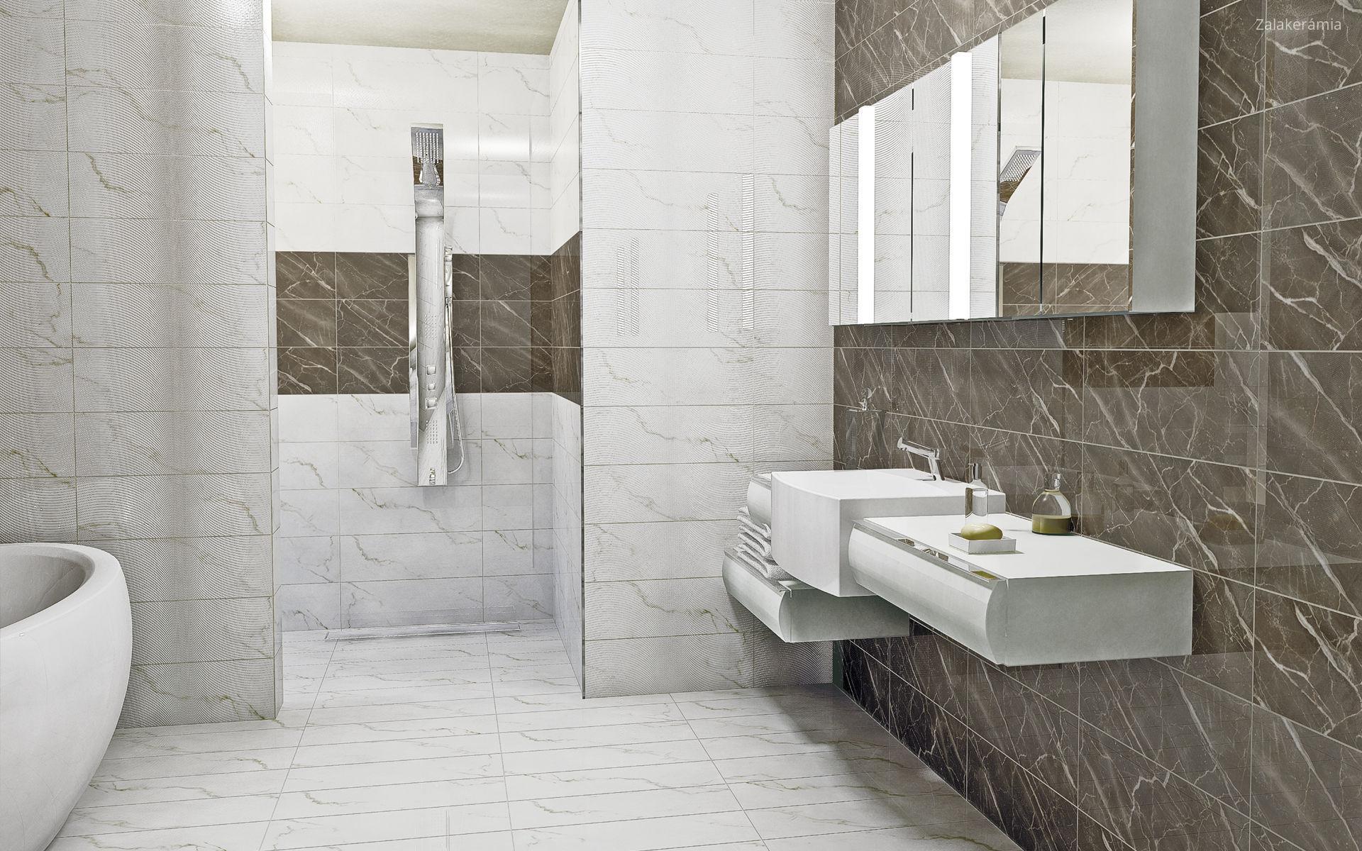 Márványmintás fürdőszoba burkolat // HOMEINFO.hu - Inspirációtár