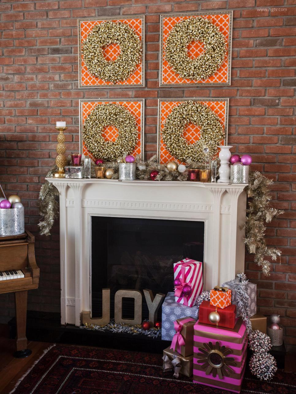 Karácsonyi kandalló díszítés - HOMEINFO