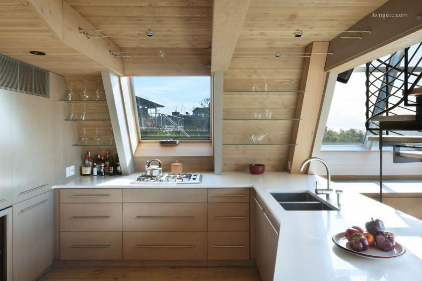 Tetőtéri konyha // HOMEINFO.hu - Inspirációtár