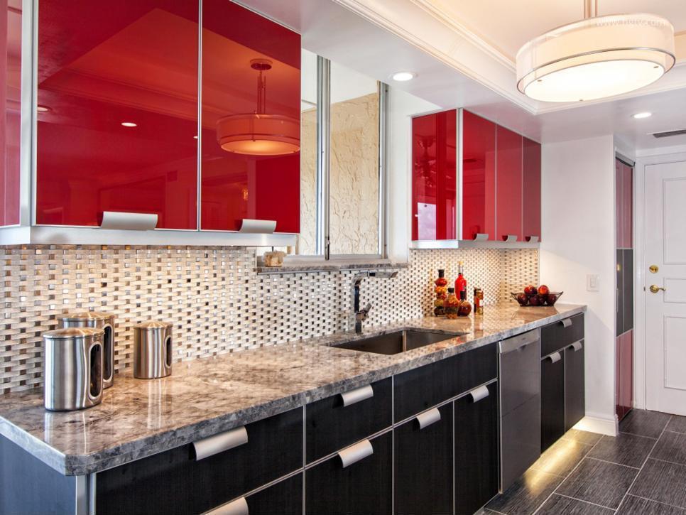 Piros és fekete konyha // HOMEINFO.hu - Inspirációtár