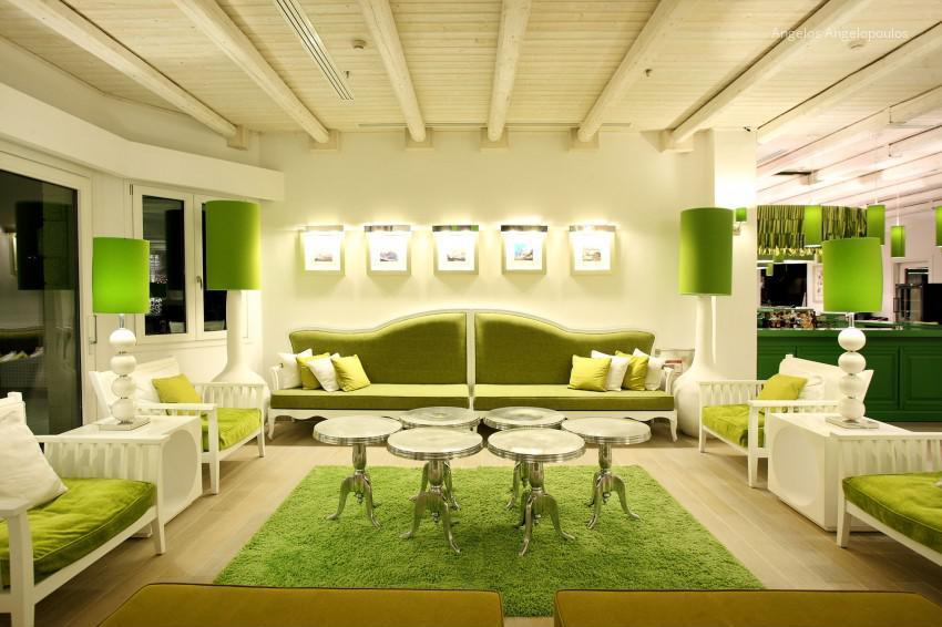 Zöld fehér nappali // HOMEINFO.hu - Inspirációtár