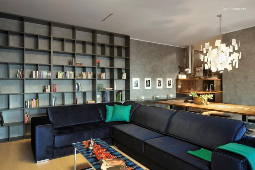 Kék kanapé a nappaliban // HOMEINFO.hu - Inspirációtár