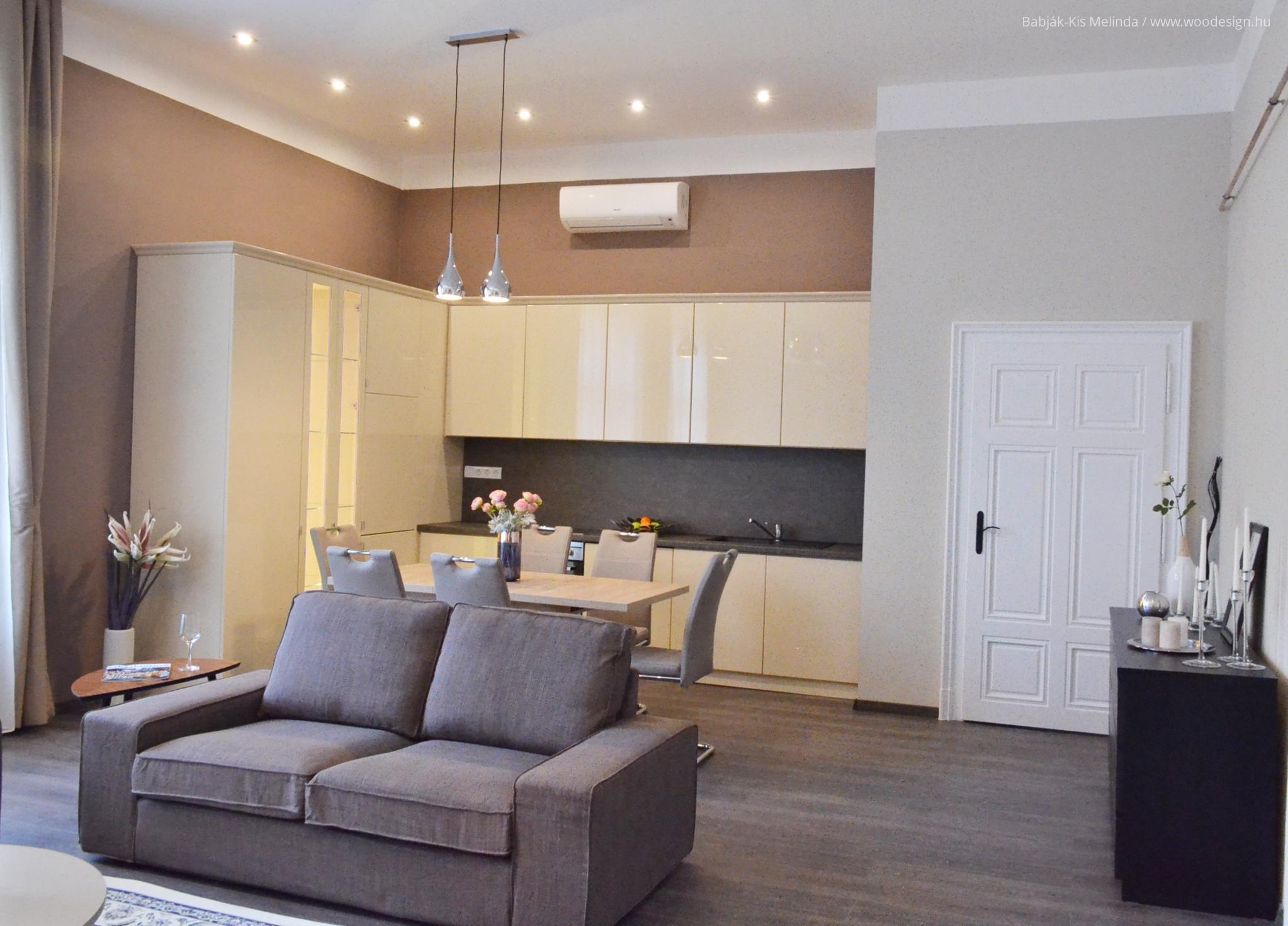 Egyterű nappali, konyha, étkező // HOMEINFO.hu - Inspirációtár