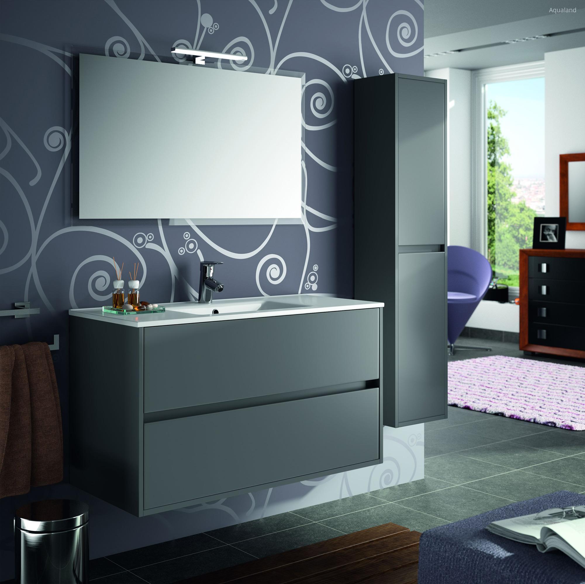 Salgar Noja fürdőszoba bútor szürke // HOMEINFO.hu - Inspirációtár