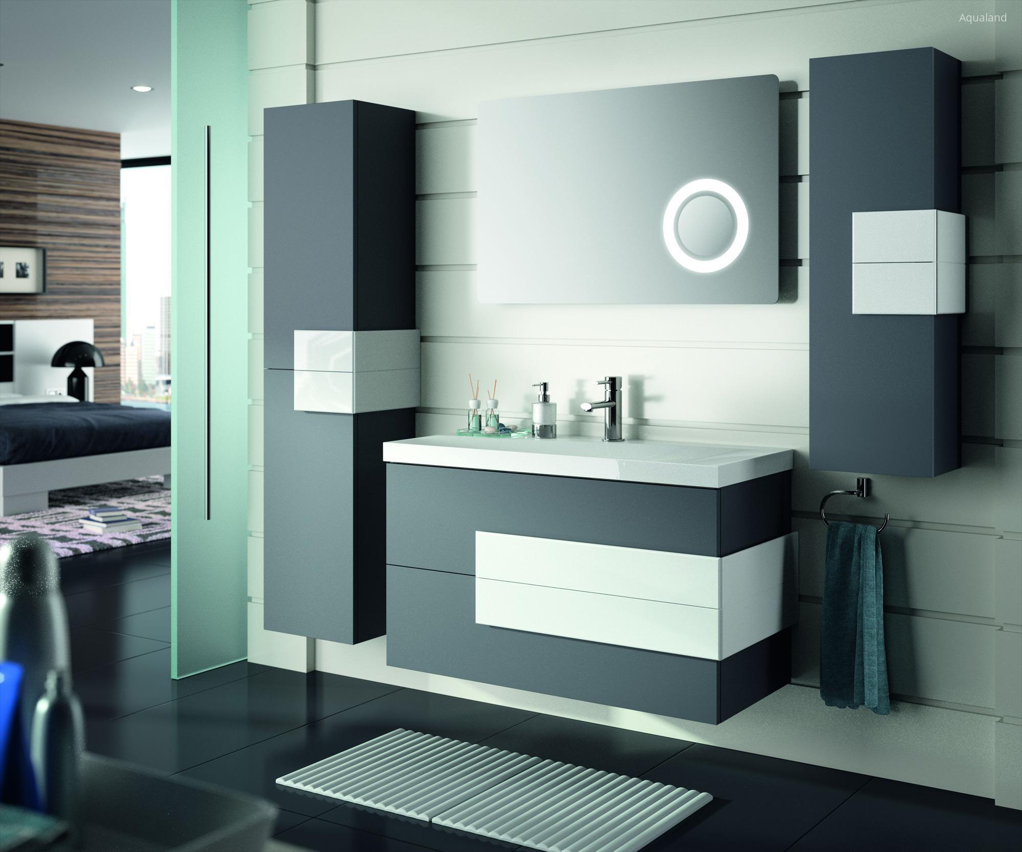 Salgar Cronos fürdőszoba bútor fekete-fehér színben // HOMEINFO.hu ...