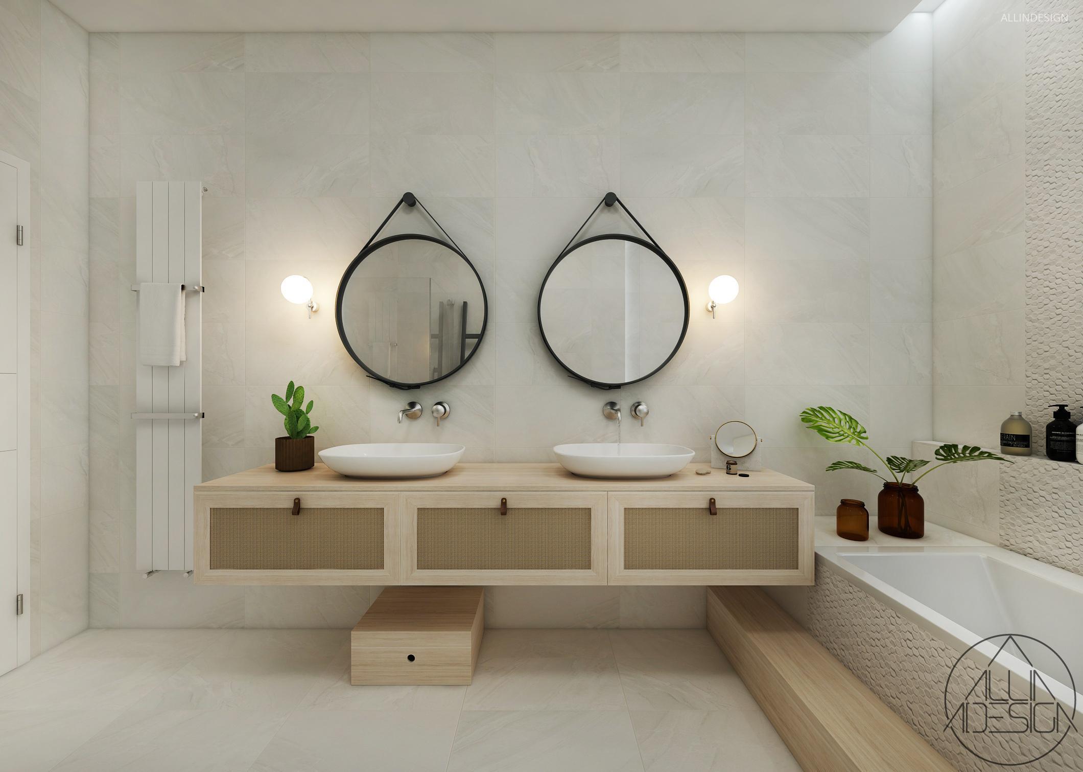 Dupla mosdó szekrénnyel // HOMEINFO.hu - Inspirációtár