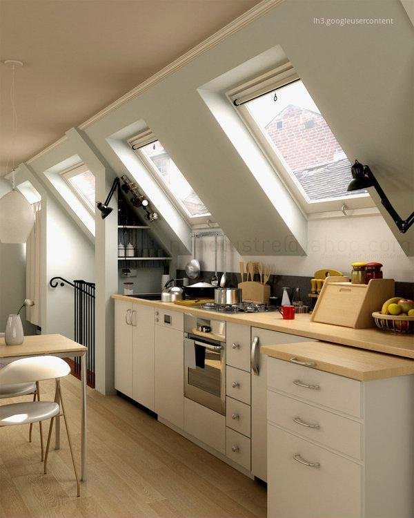 attic kitchen designs konyha a tetőt 233 rben homeinfo 1384