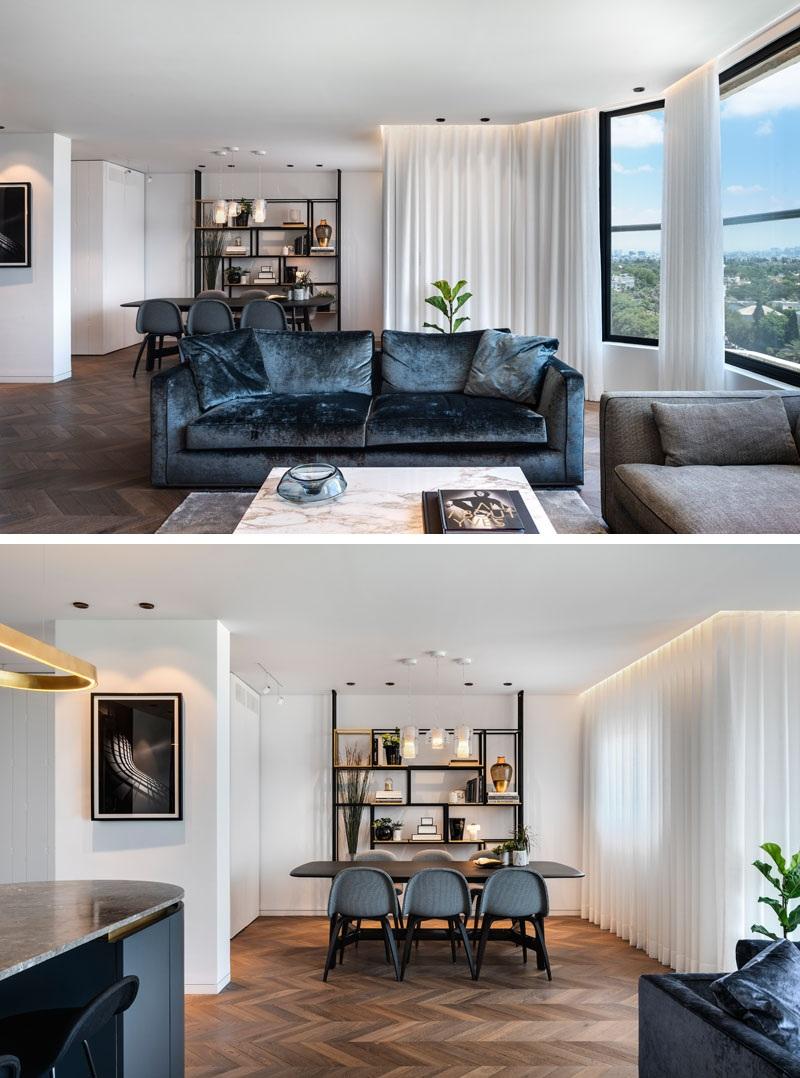 Elbűvölő luxus érzés: metálkék és fekete a lakásban full_2
