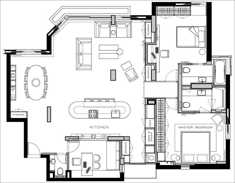 Elbűvölő luxus érzés: metálkék és fekete a lakásban full_10