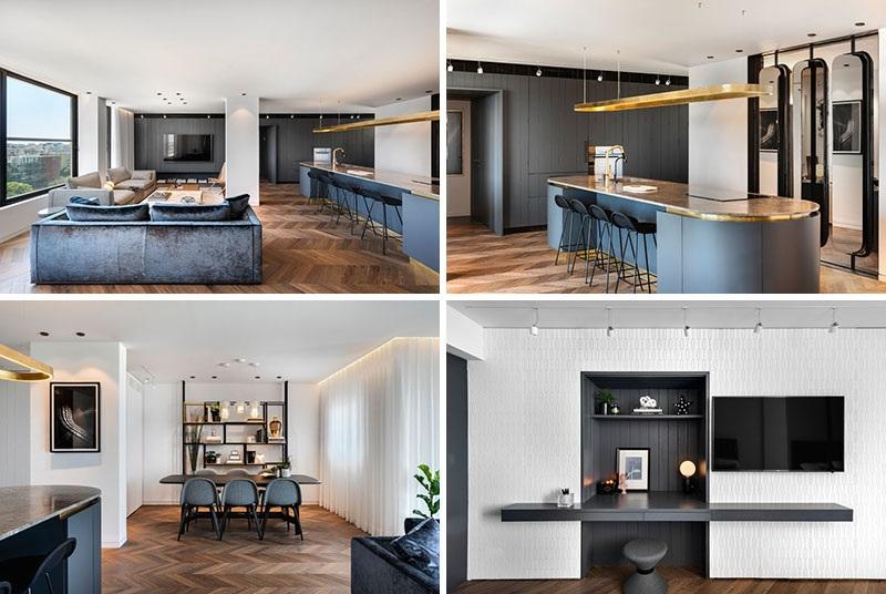 Elbűvölő luxus érzés: metálkék és fekete a lakásban intro_0