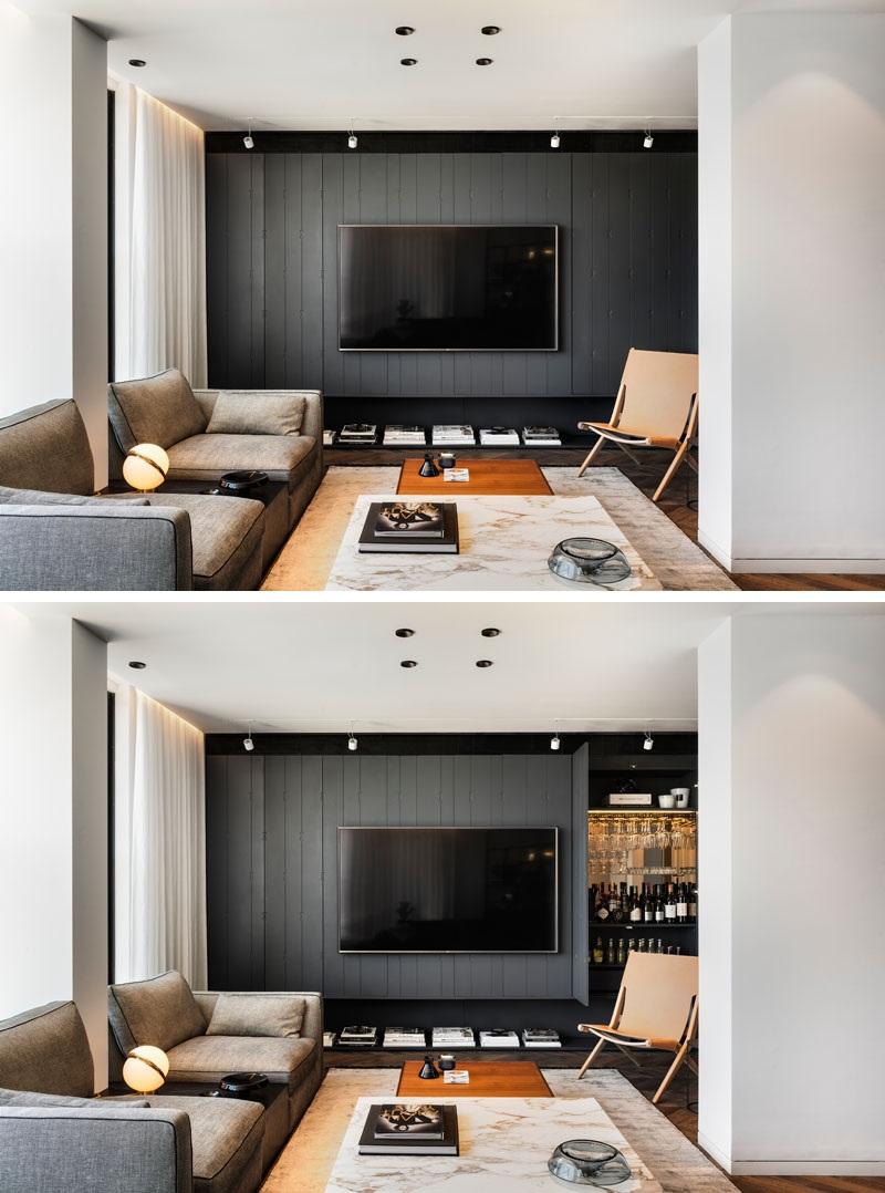 Elbűvölő luxus érzés: metálkék és fekete a lakásban full_1