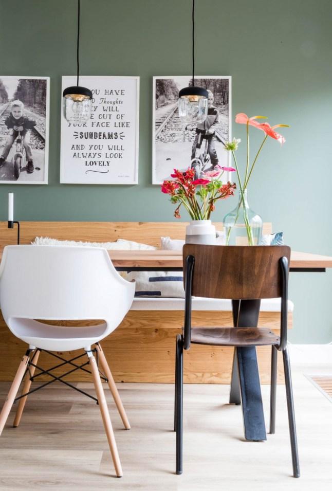 Olíva-fal és látványos tapéta full_1